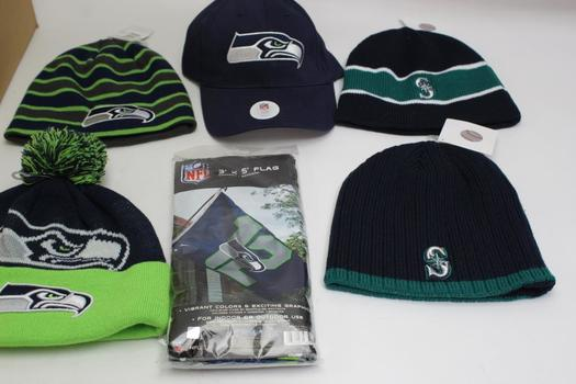 72324842 NFL Seattle Seahawks Hats, Beanies And Socks: 5+ Items | Property Room