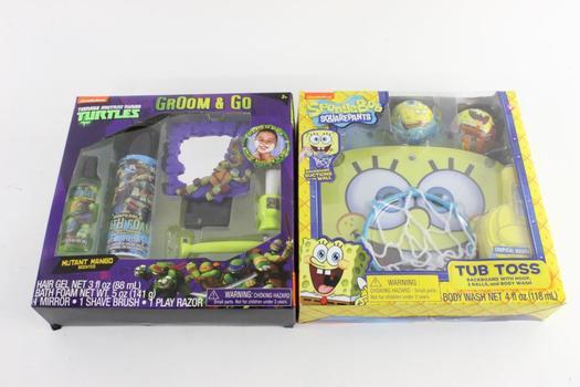 Nickelodeon TMNT Groom & Go Kid's Pretend Grooming Set And More, 2 Pieces