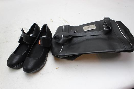 Nicole Miller Purse, Wedges Unknown Brand, Size 7.5, 2 Pieces