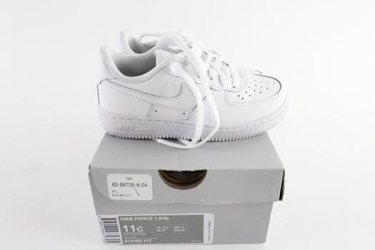 Nike Air Force 1 Kids Shoes, Size 11C