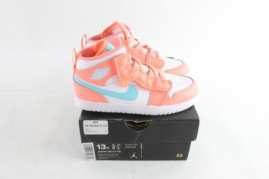 Nike Air Jordan 1 Mid Alt (PS) Kids Shoes, Size 13C   Property Room