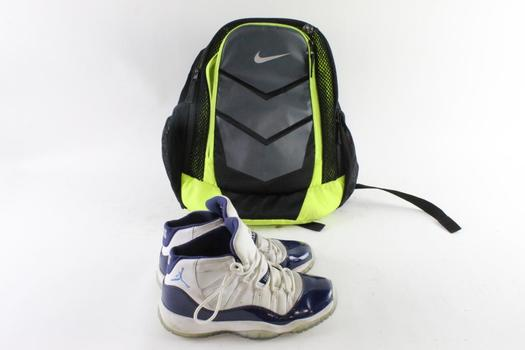 Nike Air Jordan 11 Retro Bg Kids Shoes, Size 7Y And More, 2 Pieces
