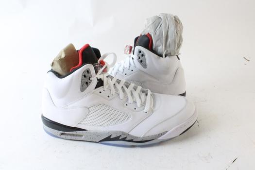 Nike Air Jordan 5 White Cement Men's Shoes, Size 18