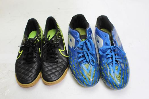 Nike And Lotto Mens Shoes/ Cleats, Size 9, 11, 2 Pieces