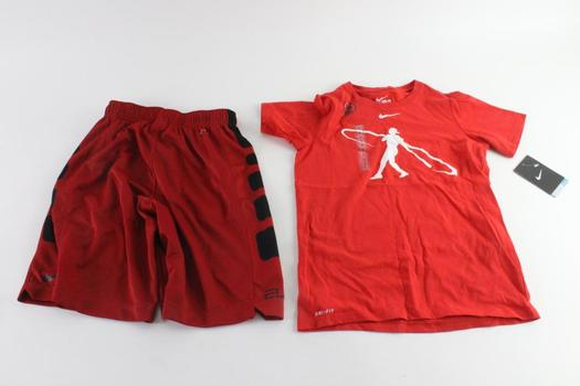 Nike Boys Shorts And Shirt, S, 2 Pieces