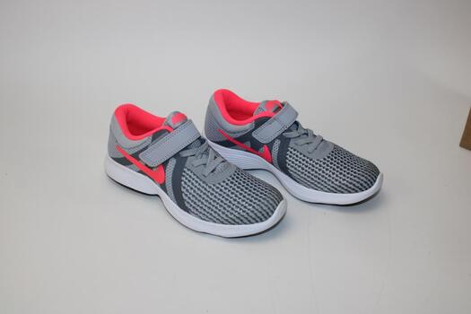 Nike Girls Gray And Pink Running Shoes Size 13C