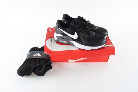 Nike Mens Running Sneakers Size 11 And Addidas 6 Pairs Of Sock Size 6-12