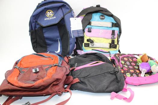Nike, Penny, & More Assorted Backpack & Bags; 5 Pieces