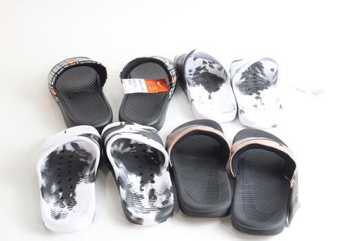 Nike Slide Sandals, 4 Pieces