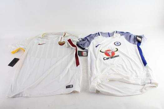 Nike Soccer Shirts, S And L, 3 Pieces