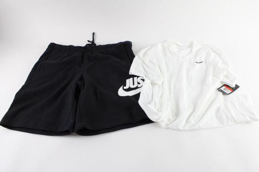 Nike T-Shirt And Shorts, L, 2 Pieces