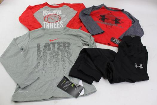 Nike, Under Armour Boys Clothing, 4 Pieces