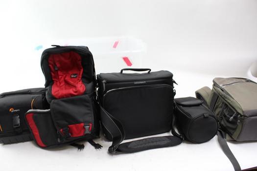 Nikon, Adventure, Lowepro, Think Tank Camera Cases In Sterlite Container 5 Pieces