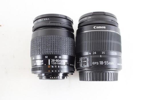 Nikon And Canon Lenses, 2 Pieces
