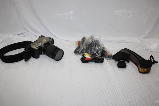 Nikon N65 35mm And RCA Wires Lot 5+ Pieces