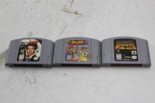 Nintendo 64 Games, 3 Pieces