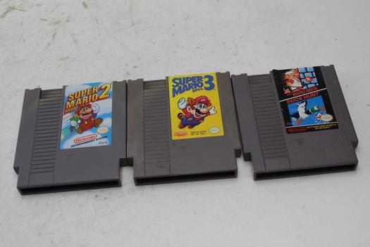 Nintendo Nes Games, 3 Pieces