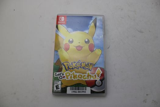 Nintendo Switch Game Pokemon Let's Go Pikachu!