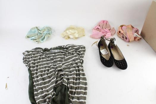 Noelle, PEarl And Other Brands, Shoes, Scarves And Shirt, 8.5, M And O/S, 7 Pieces
