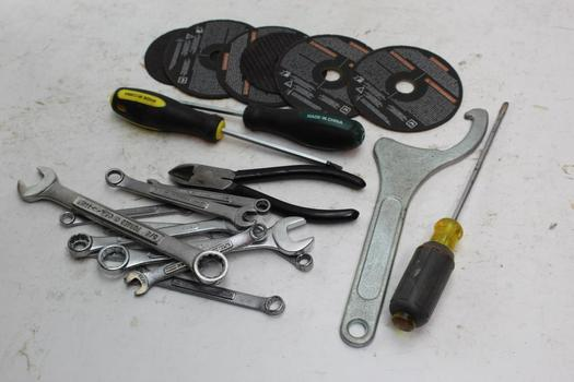 Norton, Pittsburgh, Craftsman+ More Assorted Tools 10+ Pieces