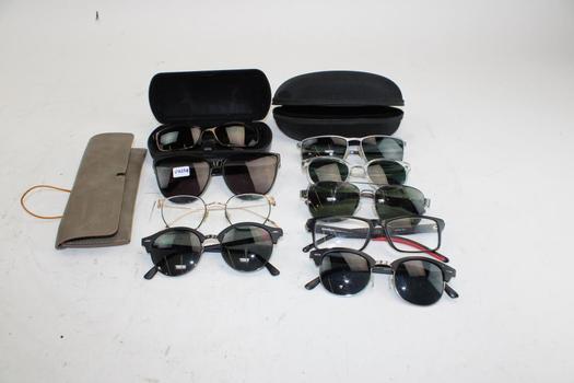 Oakley, Maui Jim, Mujosh, & More Asssorted Sunglasses And Eyeglasses Bulk Lot, 5+ Pieces