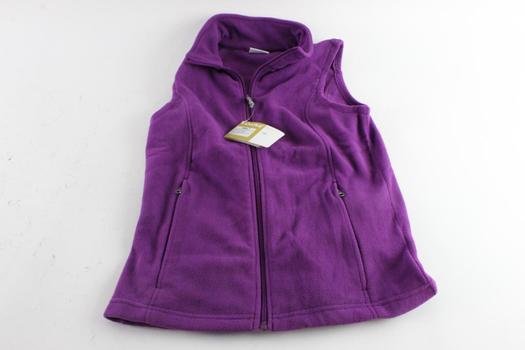 Oalka Womens Full-Zip Fleece Vest, Size S