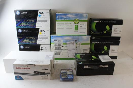 Office Depot Laser Toner Cartridges, HP Laser Jet Printer Ink, And More, 5+ Pieces