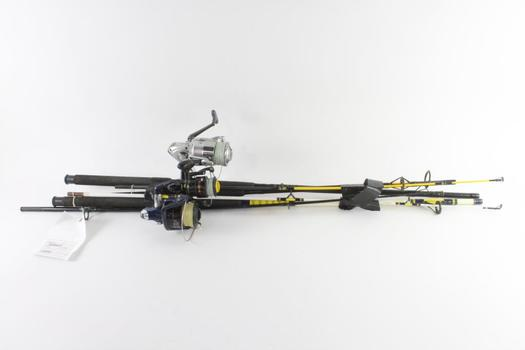 Offshore Angler And Other Fishing Poles. 3 Pieces