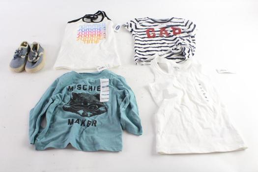 Old Navy 12-18 Months Long Sleeve Shirt, Old Navy Extra Small Tank Top, And More, 5 Pieces