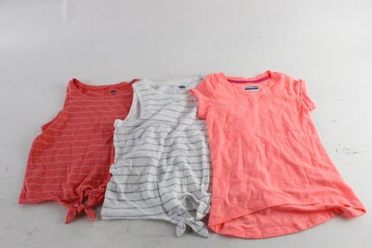 Old Navy And Basic Editions Girls Sleeveless Shirts, XS And M, 3 Pieces
