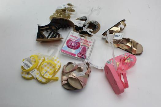 Old Navy Infant Shoes, And Baby Basics, Pacifier, 7 Pieces