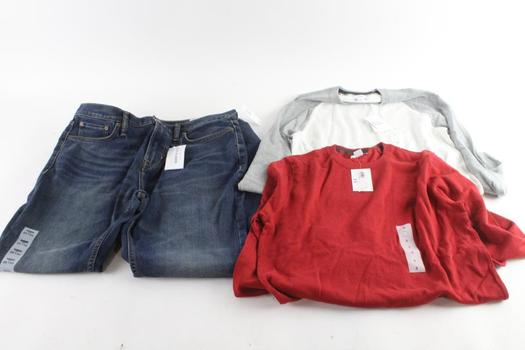 Old Navy Shirts And Jeans, S And 34x32, 3 Pieces