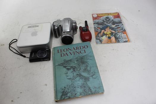 Olympus Camera, Motorola Radio, Canon Camera, Mac Mini: 5+ Items
