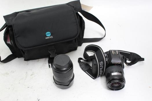 Olympus Digital Camera With Flash, Lens, And Filters 7 Pieces