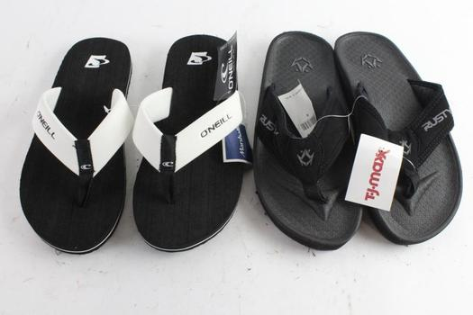 O'neill And Rusty Sandals, Size 8, 2 Pieces