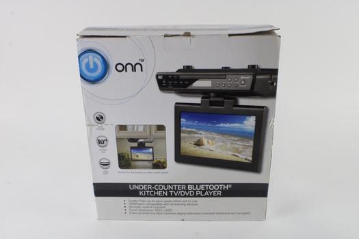 Onn Under-Counter Bluetooth Kitchen TV/DVD Player