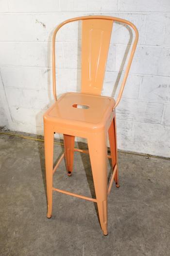 Orange Metal Patio Chair