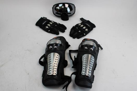 Outdoor Master Goggles, Rid Biker Knee/ Shin Pads,mad Bike Gloves