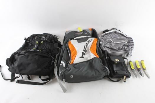 Ozark Trail And Other Backpacks And More, 7 Pieces