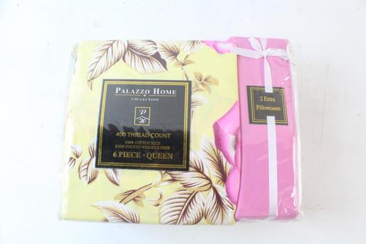 Palazzo Home Collection 6 Pieces Queen Sheet Set