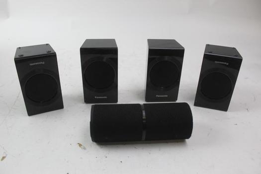 Panasonic Speakers And Unknown Brand Bluetooth Speaker
