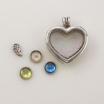 Pandora Floating Heart Locket With Charm Beads, 5 Pieces