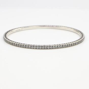Pandora Silver Oval Eternity CZ Bracelet