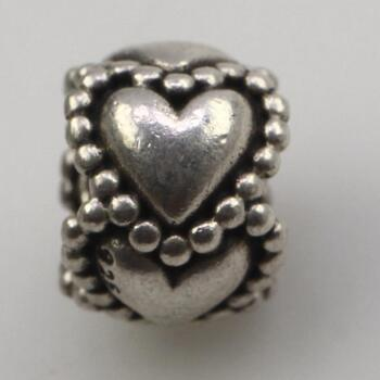 Pandora Sterling Silver Retired Heart Spacer Charm