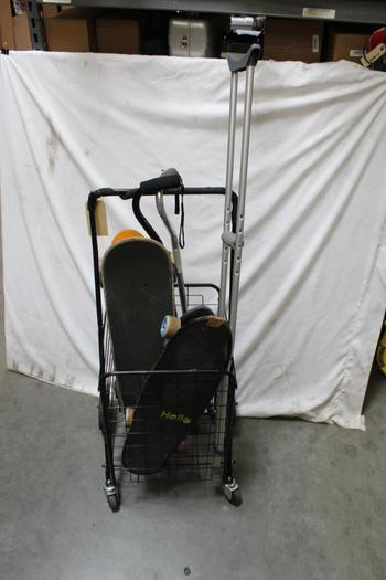 Penny Skateboard, Folding Shopping Cart And More Bulk Lot, 5+ Pieces