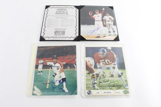 Pete Rose Autographed Picture, And More, 3 Pieces