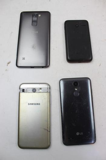 Phone Lot: 5 Pieces, Sold For Parts