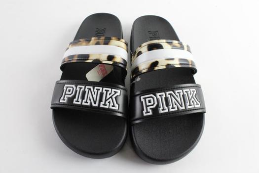 Pink By Victoria's Secret Womens Slide Sandals, Size M