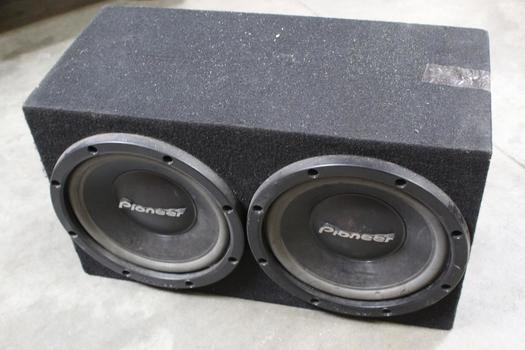 Pioneer Twin Car Speakers And Speakerbox