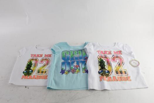 Piper Girls Sleeveless Shirts, M And S, 3 Pieces